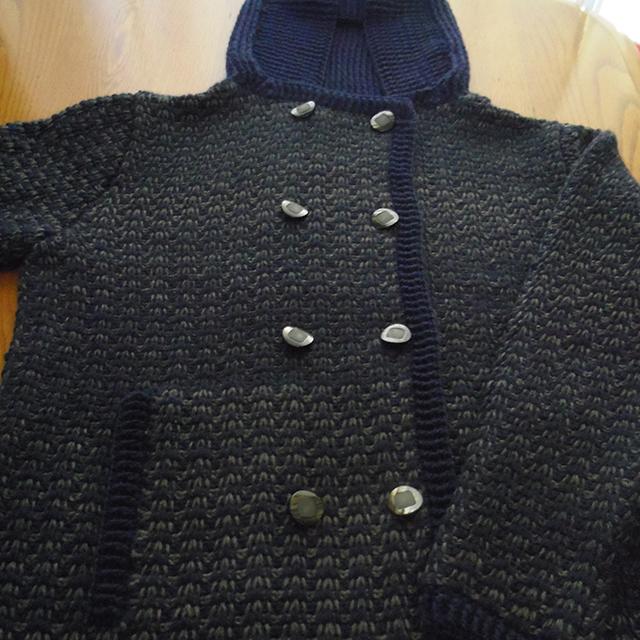 アフガン編みコート
